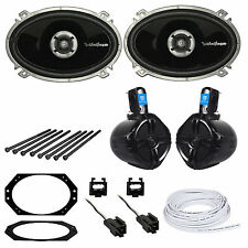 97-02 Jeep Wrangler TJ Front Speakers+Rollbar/Soundbar Speakers+Install Hardware