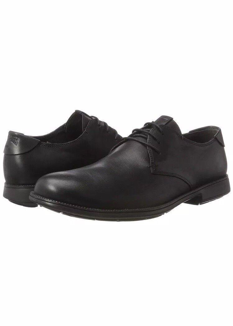 camper black lace shoes white sole