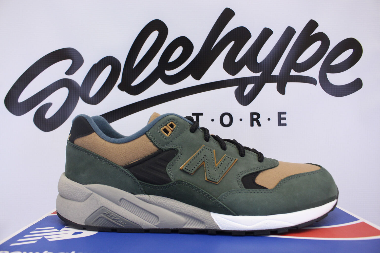MITA SNEAKERS X NEW BALANCE 580 DOUBLE DIME DARK OLIVE TAN MRT580KC SZ 7