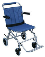 Drive Medical Super Light Folding Transport Chair w/Carry Bag SL18 Wheelchair