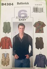 Butterick B6844 PATTERN Men/'s Inverted-Pleat Robes Sizes 32-48 BN
