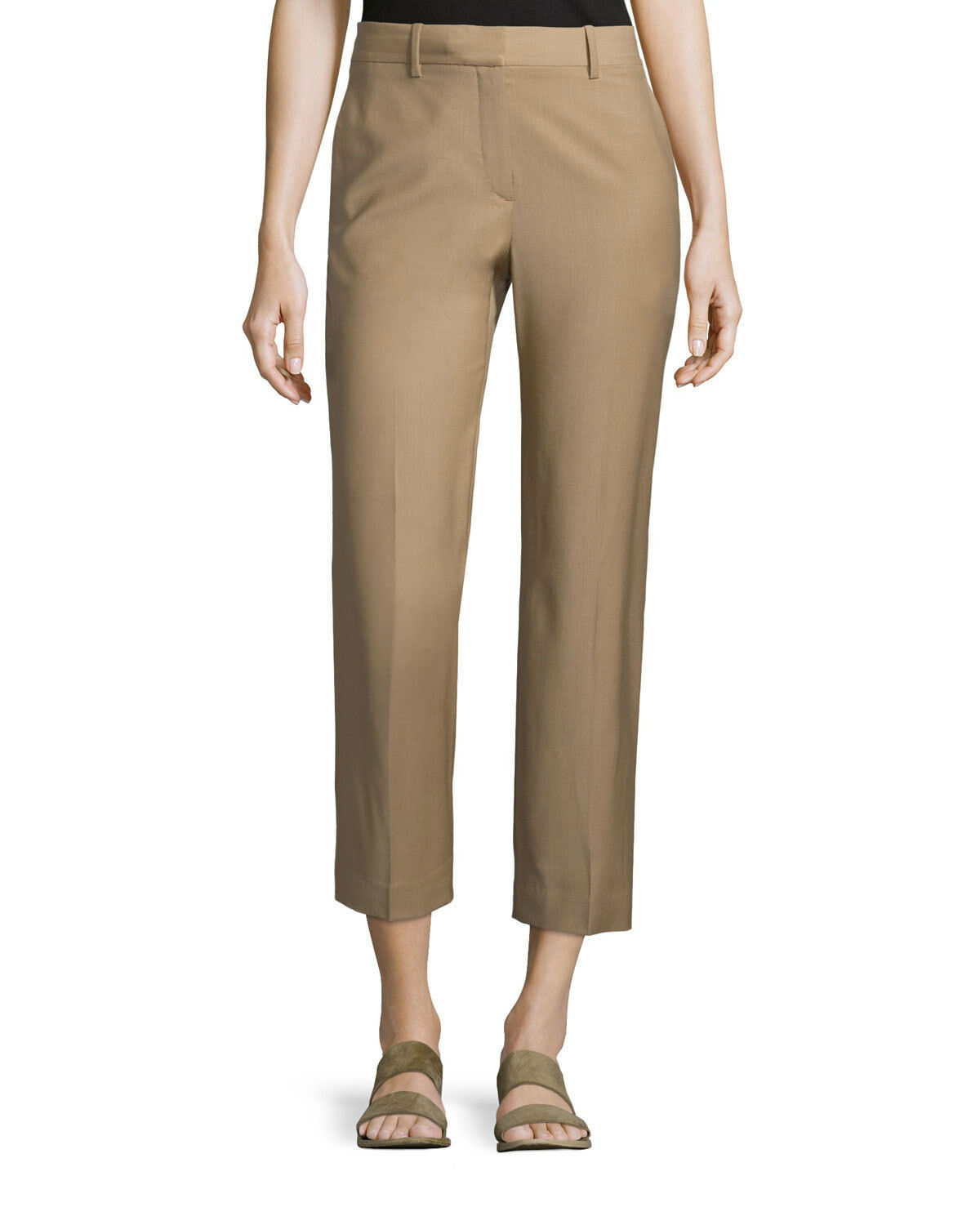 NWT Theory Lavzin Continuous Wool-Blend Ankle Pants Saddle Khaki Größe 4,6  315