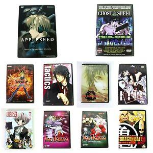 Anime-DVDs-Lot-of-10-Yu-Gi-Oh-InuYasha-Dragon-Ball-AppleSeed-Tactics-amp-More