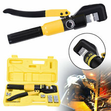 10 Ton Hydraulic Hose Crimper Crimping Tool Set Wire Battery Cable Lug Terminal
