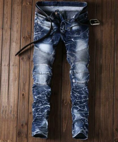 Men printing design denim Sales champion creases designer jeans
