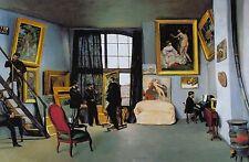 """BAZILLE'S STUDIO  9 RUE DE LA CONDAMINE, 1870, 16""""h x 24""""w image, digital"""