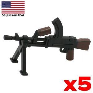LEGO-Guns-Bren-Machine-Gun-Painted-Lot-of-5-WWII-British-Army-Military-Weapon