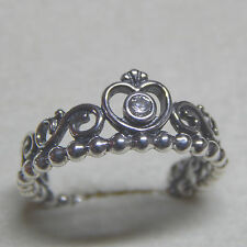New Authentic Pandora 190880CZ My Princess Clear CZ Ring Size 54 Box Included