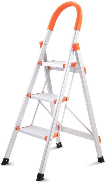 Surprising 3 Step Ladder Folding Platform Stool Non Slip Aluminum Portable And Lightweight Cjindustries Chair Design For Home Cjindustriesco