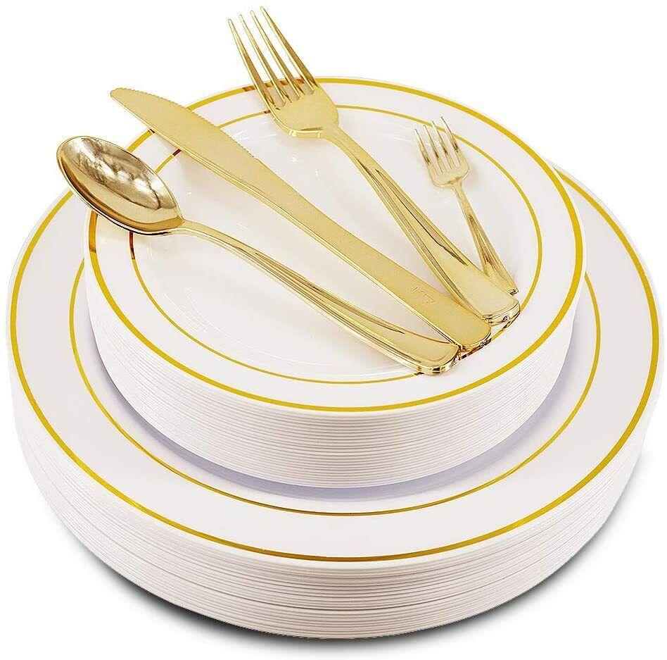 100 rose gold disposable TEA-SPOONS cutlery flatware plastic wedding-FREE SHIP