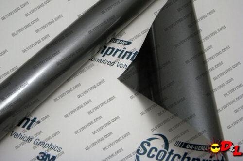 "3M Scotchprint Gloss Anthracite Wrap Film 12/""x60/"" 5 sq ft."