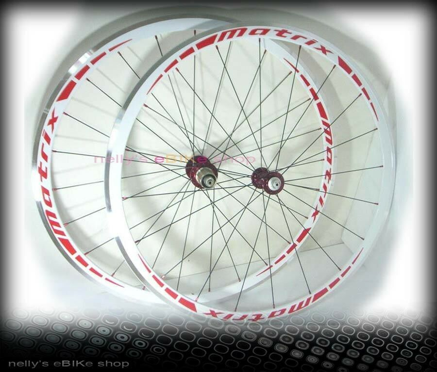 NEW Matrix R300 alloy wheelset 700c,31mm,white