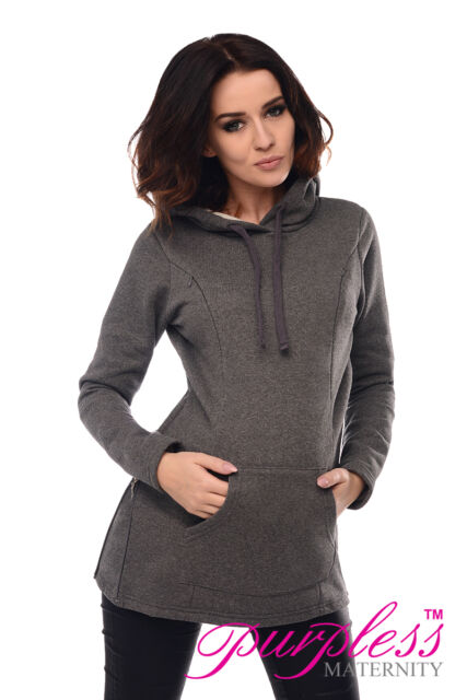 2in1 Maternity & Nursing Warm Hoodie Pregnancy Breastfeeding Top Size 8-18 9050