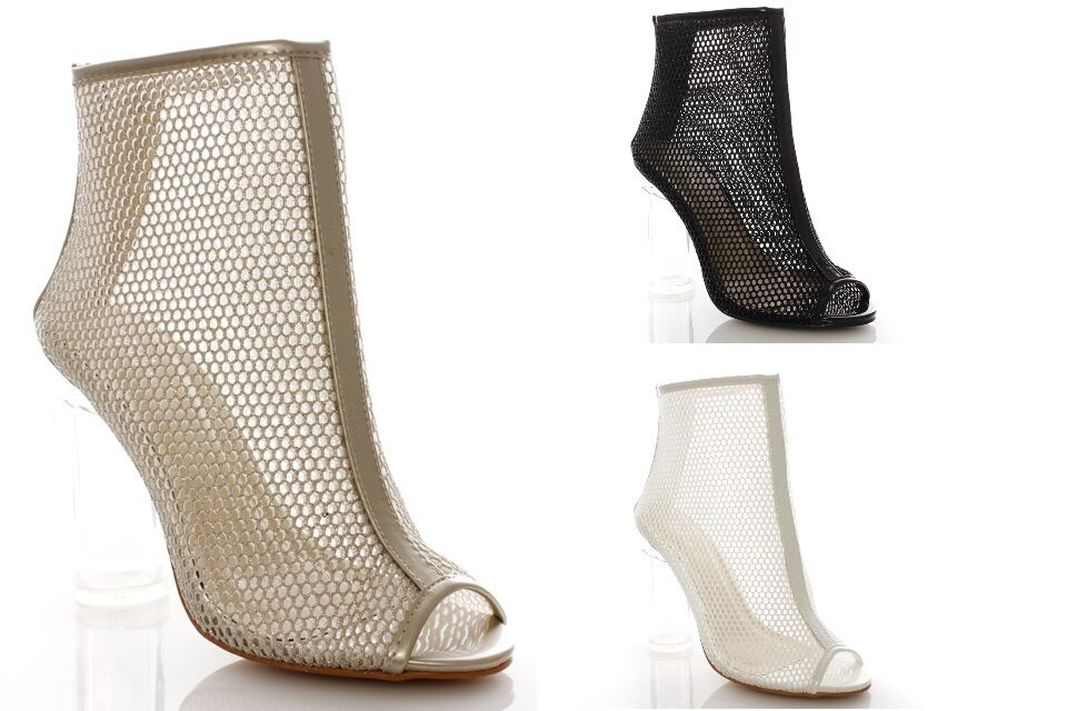 Shoes heel clear booties woman transparent ankle boots booties clear sprung summer f77873
