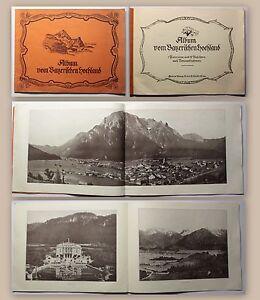 Bildband-Album-vom-bayerischen-Hochland-um-1900-mit-1-Panorama-amp-29-Ansichten-xz
