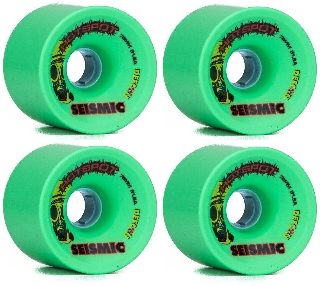 Seismic Hot Spot 76mm 81.5A  Longboard Wheels Mint  good reputation