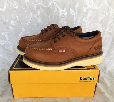 422M LT. BROWN Leather Work Boots