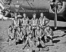 USAAF WW2 B-17 Bomber Bad Egg & Crew 8x10 Nose Art Photo 91st BG WWII
