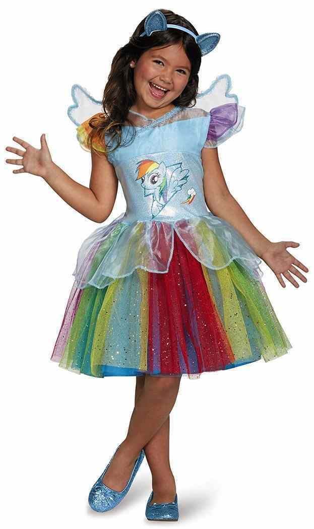 My Little Pony - Rainbow Dash Tutu Deluxe Fancy Dress Up Halloween Child Costume