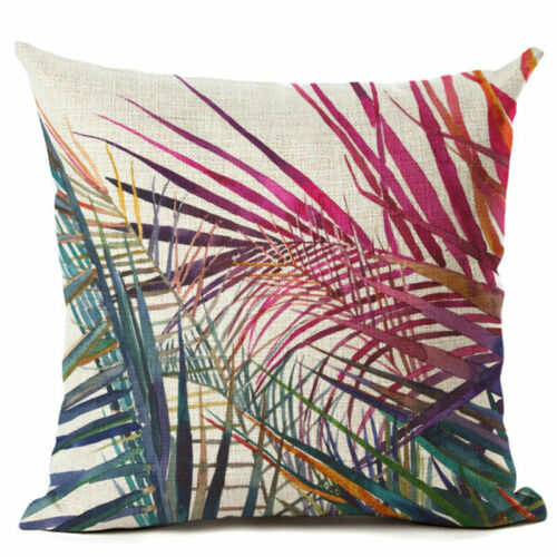 """18/"""" Many Trees Flowers Pattern Cotton Linen Pillow Case Cushion Cover Home Decor"""