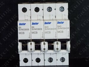 Free Delivery Europa EUB1 Range MCB Minature Circuit Breaker  6kA TESTED