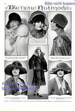 Neue Hutmode 1 XL Seite mit Fotoabb von 1927 Margarete Hruby Mode Hüte Werbung +