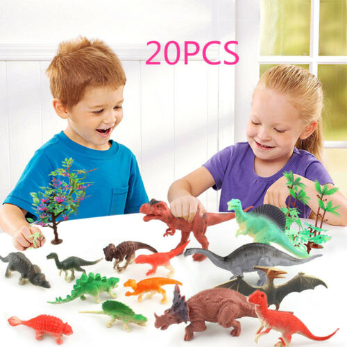 20pcs Dinosaur Set Toys Action Figure Educational Games Xmas Gifts For Kids Toy