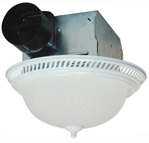 Charmant Details About Ceiling Exhaust Bath Fan Light Combo Decorative White Round  Ventilation 70 CFM