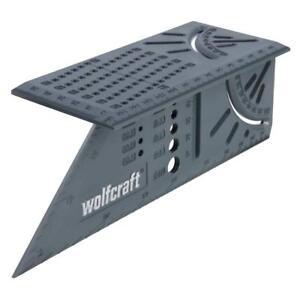 Wolfcraft 3D Sierra 90&45 grados escuadra regla con taladro & calibre radio 5208
