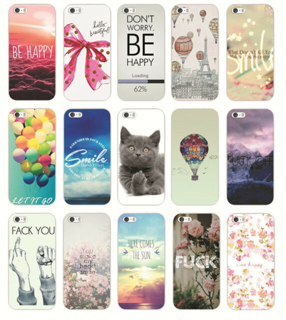 HOT Beautiful Word Sunshine Smile Pattern Case Cover For Iphone 4S 5 5S 5C 6