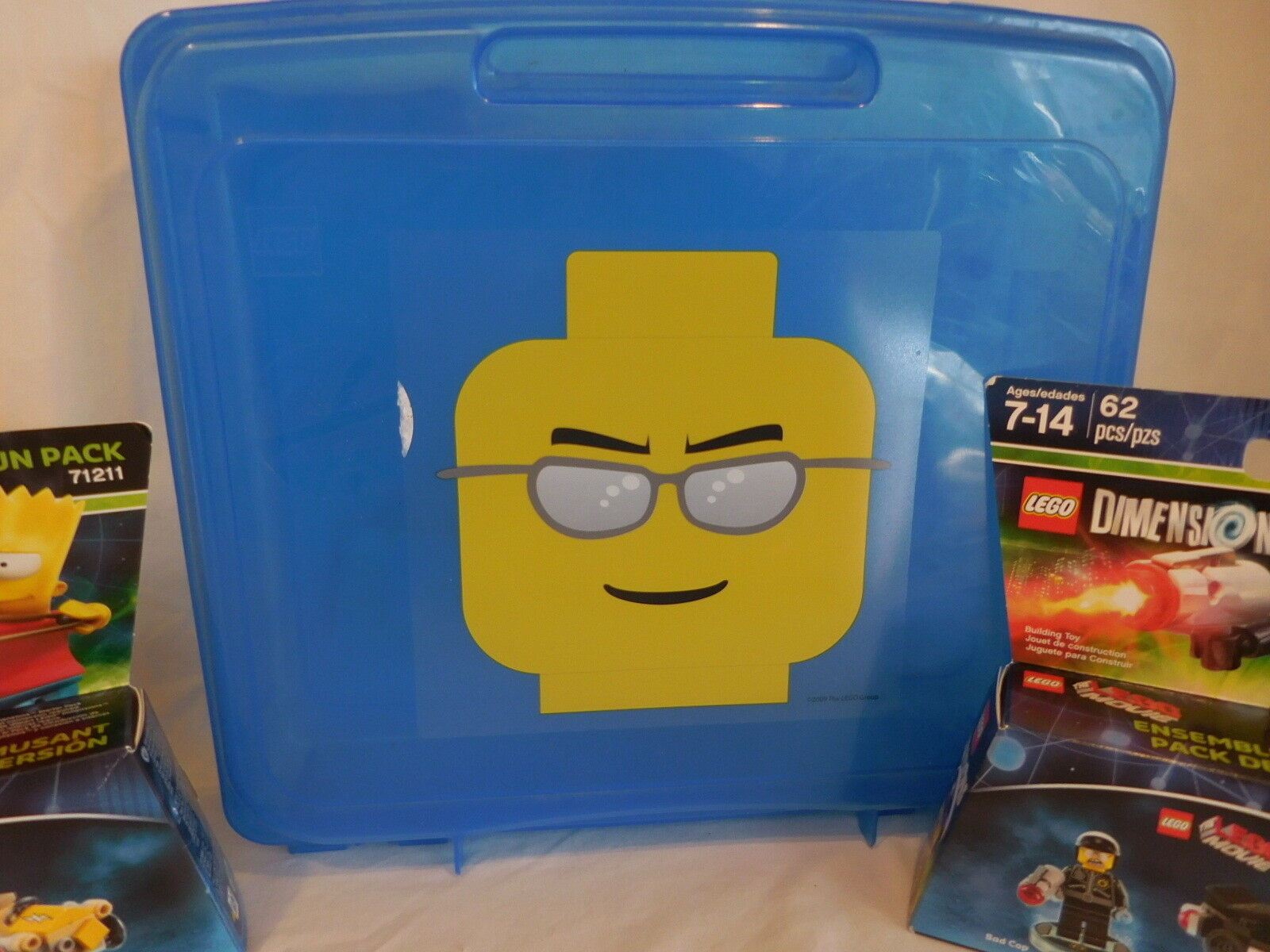 Lego Minifigure Head Storage Carrying Cases Container Container Container Yellow + bluee + New Lego's a6656f