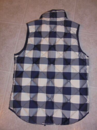 J Excursion Women's Navy Puffer Crew Buffalo Check Quilted Xxs Nwt e0829 Vest rqwrR