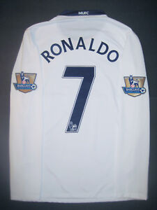 low cost afaab 4e03a Details about 2008-2009 Nike Manchester United Cristiano Ronaldo Long  Sleeve Jersey Shirt Kit