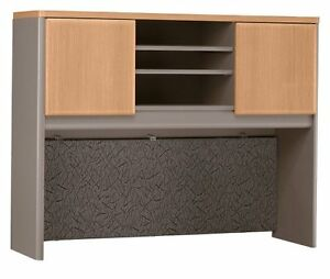 Bush Furniture Series A Inch Office Desk Hutch In Light Oak