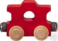 NEW WOODEN NAME TRAIN ALPHABET LETTER SET ENGINE 28pc Maple Landmark reg$168