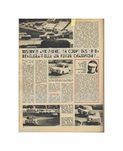 Doc/Clipping (Ref Lip 0390) 04/1967 : AUTO : COUPE RENAULT R8  1page