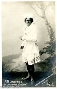 SOBINOV-Leonid-Photo-Russian-Postcard-Opera-Singer-PC