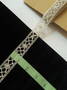 Antique-French-Dolls-Lace-Trim-Edging-Design-Costume-Sewing