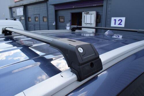 Opel Zafira 2005-2010 barras de techo de aluminio barras transversales Negro