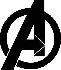 Avengers Vinyl Sticker Decal Marvel Comics Superheroes Logo Car Window Laptop