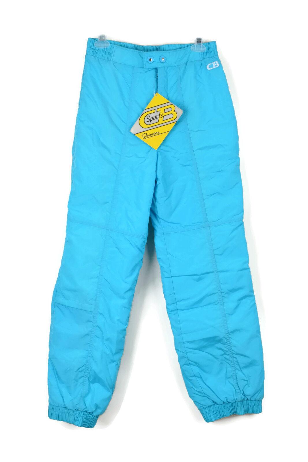 Vintage 80s CB Sports Skiwear Womens bluee Insulated Nylon Ski Snow Pants Sz 12
