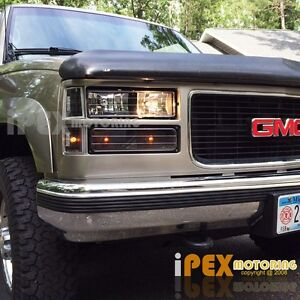 1994-1998 GMC Sierra Suburban Yukon 8PC Black Headlight ...