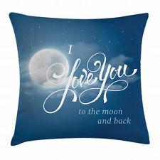 Ich liebe dich Kissenbezug Nachthimmel Vollmond Waschbar