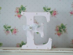 Shabby Chic Baby Pink Wooden Personalised Letter Initial Free Standing Pearls - Rotherham, United Kingdom - Shabby Chic Baby Pink Wooden Personalised Letter Initial Free Standing Pearls - Rotherham, United Kingdom