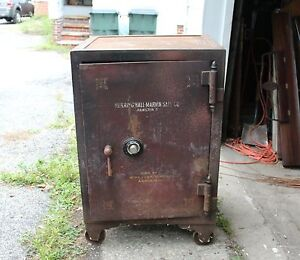 Details about Antique Herring, Hall, Marvin Safe Co  Floor Safe from Circa  1920 in Cle, OH