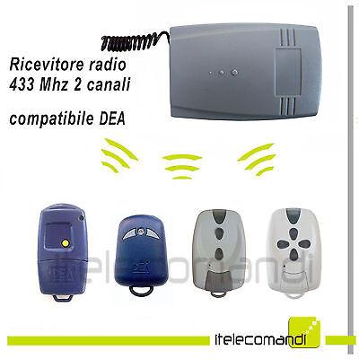 RICEVITORE RADIO RICEVENTE 2 CANALI 433MHZ COMPATIBILE BENINCA/' ROLLING 12V 24V