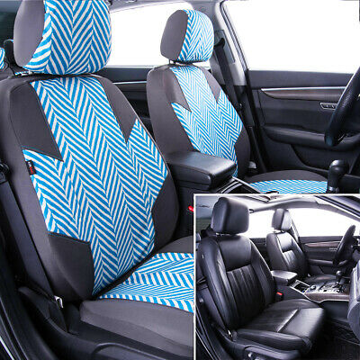 NEW ARRIVAL-Car Pass HOMESTYLE Ramie Cotton Universal Fit car seat covers With Opening Holes for headrest and seat belt,Airbag Compatiable Black and water blue color