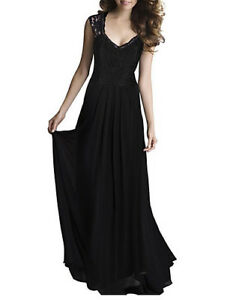 Ladies-Dress-Maxi-Black-Lace-Backless-Cut-Out-Vintage-Retro-Sz-2XL-BNWT
