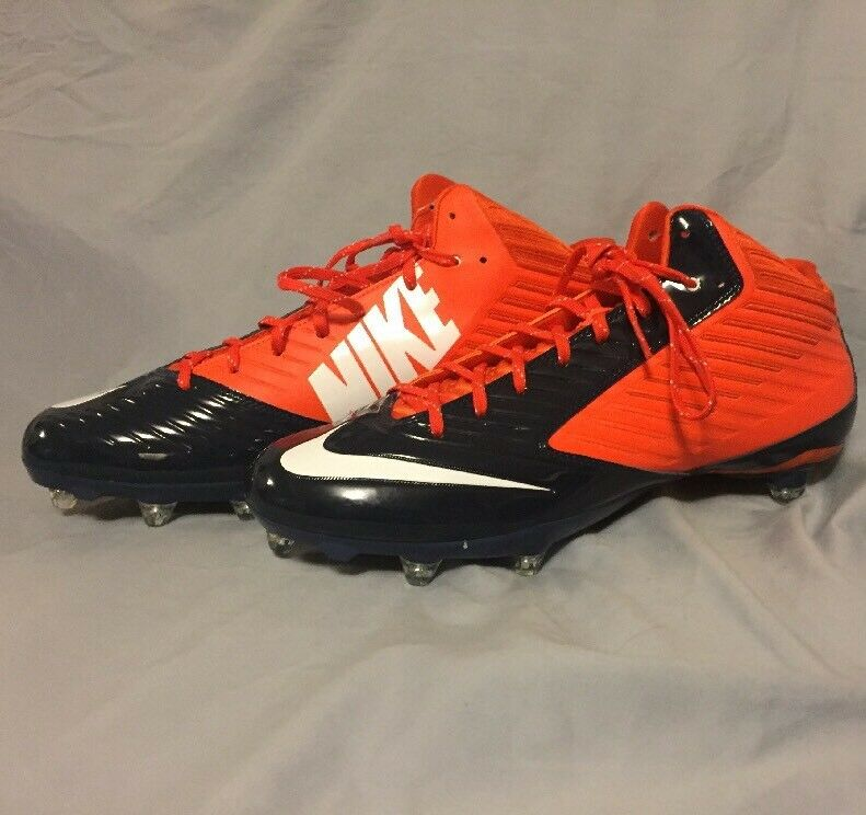 NIKE VAPOR SPEED LOW TD SZ 15 FOOTBALL CLEATS blueE orange WHITE NEW NWT