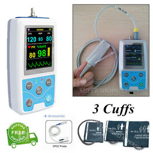 Contec-PM50-24-Hours-Dynamic-Blood-Pressure-Monitor-Patient-Monitor-3-cuffs-SW